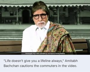 """""""Life Doesn't Give You A Lifeline Always"""": Big B Message On Train Safety 3"""