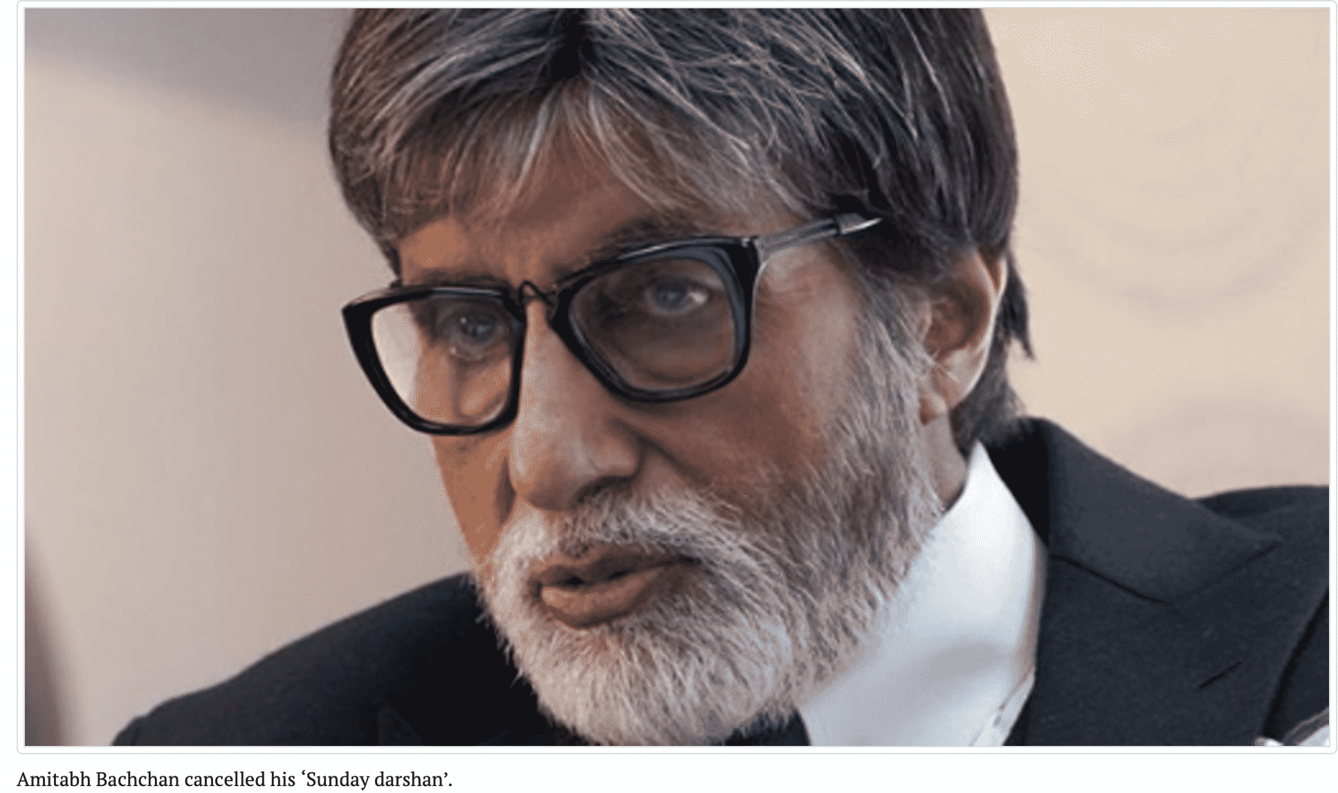 Amitabh Bachchan cancelled his 'Sunday darshan'