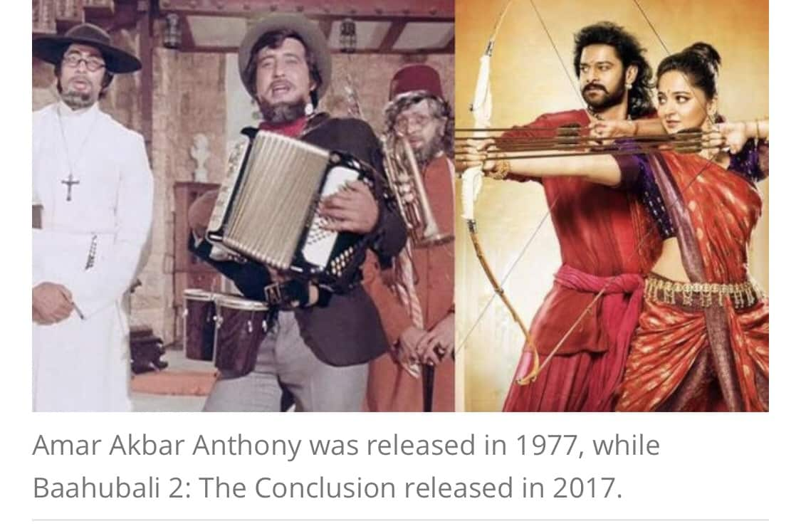 Would Amitabh Bachchan's Amar Akbar Anthony have crossed Baahubali 2 collection if released in 2017? 4